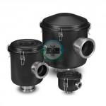 ISO Flg Vacuum Filters, CSL Series (Black Finish, SS Fittings)